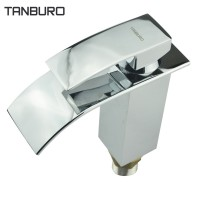 Tanburo Single Handle Waterfall Bathroom Sink Faucet