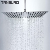 Tanburo Bathroom Chrome Shower Head, 8-inch