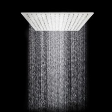 TANBURO Rain shower head square anti-limestone shower economy ABS with stainless steel Ultra-thin shower 12 inch gloss bathroom mirror effect for bathroom